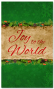 3x5 Joy to the World Christmas banner for churches - Green