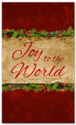 3x5 Christmas banner for church - Red - Joy to the World