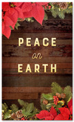 3x5 Peace on Earth Christmas garland church banner