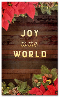 """3x5 Christmas garland banner for church that says """"Joy to the World"""""""