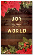 "3x5 Christmas garland banner for church that says ""Joy to the World"""