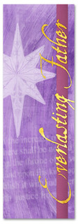 Everlasting Father purple church banner design for Christmas