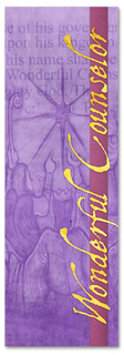 Wonderful Counselor purple Christmas banner design