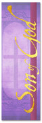 Son of God purple Christmas banner design