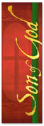 Son of God Red Christmas banner design for church