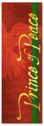 Prince of Peace Red Christmas banner design for churches