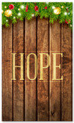 Church Christmas banner with wood theme - Hope