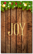 3x5 church Christmas banner - Joy on wooden background