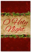 Oh Holy Night red church banner design for Xmas