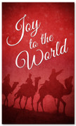 Joy to the world traveling Wisemen church Christmas banner design