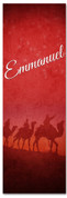 Emmanuel Wisemen Christmas church banner design in red