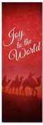 Joy to the World Wisemen design - red Christmas church banner