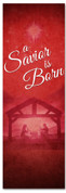 Savior Born Wisemen church banner design for Christmas