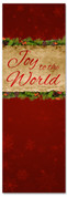 Red Christmas church banner - Joy to the World