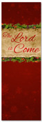 Red Christmas banner for church - The Lord is Come