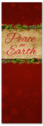 Peace on Earth red Christmas banner for churches