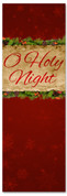 Red Christmas banner for church - oh holy night