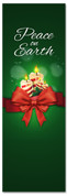 Peace on Earth Candles Christmas banner in green