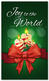 3x5 green Christmas church banner that says Joy to the World