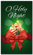 3x5 O Holy Night Candles Christmas church banner in green