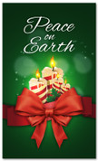 3x5 Peace on Earth Candles Christmas banner for churches