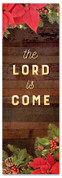 Christmas banner the Lord is come 2x6