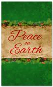 3x5 green Christmas church banner - Peace on Earth
