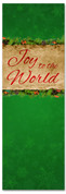 Joy to the World Green church Christmas banner
