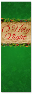 O Holy Night Christmas banner for churches - Green