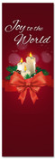Christmas church banner with candles - Joy to the World