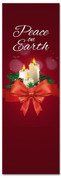 Candles church Christmas banner - Peace on Earth