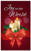 3x5 Joy to the World Christmas church banner with Candles