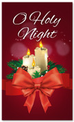 3x5 candles Christmas banner for churches - O Holy Night