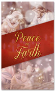 3x5 Nativity Christmas banner that says Peace On Earth
