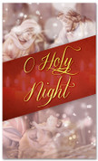 3x5 Nativity church banner for Christmas - O Holy Night