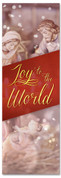 Joy to the World - Christmas banner with Nativity Scene