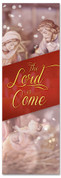 Nativity Christmas banner for church  - The Lord has Come