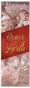Nativity scene church Christmas banner - Peace on Earth