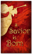 3x5 Christmas banner - A Savior is Born