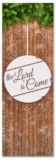 """Christmas banner that says """"The Lord is Come"""" for Christian churches"""