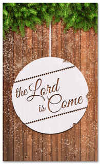 The Lord is Come Christian Christmas banner 3x5