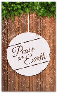 Peace on Earth Christmas banner for churches