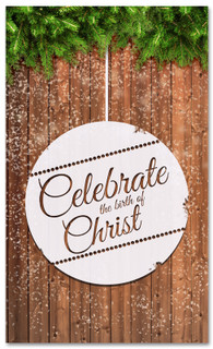 Celebrate birth of Christ Christmas banner