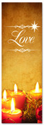 Gold Christmas banners for churches - Love
