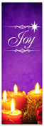 Purple Christmas banner for church - Joy