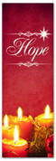 Red Christmas church banner - Hope