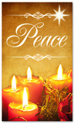 Christmas banner for churches - Peace 3x5 gold