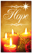 Christmas banner for churches - Hope 3x5 gold
