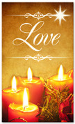 Christmas banner for churches - Love 3x5 gold