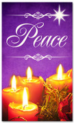 Christmas banner for churches - Peace 3x5 purple